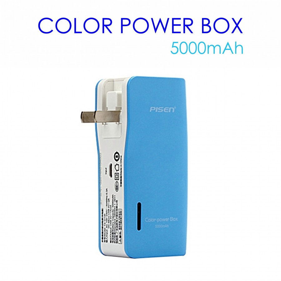 PIN DỰ PHÒNG PISEN HIGH POWER COLOR 5.000mAh